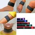 Simple easy to use body supports containing fully vinyl sealed removable 3000 gauss Rare Earth Magnets. Supports can be purchased individually making it possible to interchange your magnets into different sized straps for the whole family to use. Made from stretchable neoprene and fastened with Genuine Velcro Brand Hook and loop fastener.