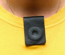 Magnetic Therapy Leather Clip May assist in relieving Asthma.