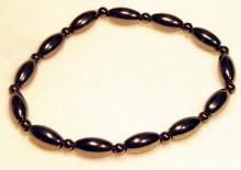 Magnetic Bracelet Long Rice bead 4mm round bead repeats