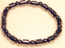 Magnetic Bracelet 8mm barrell and 6mm round beads repeats
